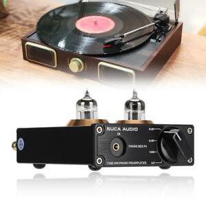 Mini-MM-Phono-Stage-PreAmp-Stereo-Plattenspieler-Vorverstaerker-Box-RCA-Headphone-Amp