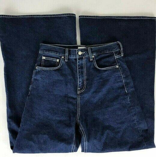 Zara Womens Jeans Size 8 Wide Leg Medium Wash