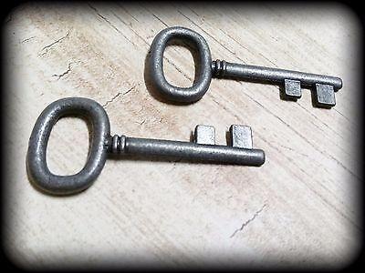 Black Skeleton Keys Gunmetal Skeleton Key Pendants 40mm Vintage Style Keys 10pc