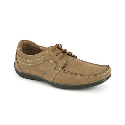 WOODLAND ORIGINAL MENS 592108 CAMEL ADVENTURE CASUAL LACED FLAT SHOES SALE
