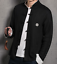 Mens Chinese Tops SZ Blousers Stand Collar Cotton Linen Retro Loose Coats Shirts