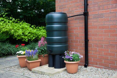 Whitefurze Rainwater Garden Water Butt Kit With Stand Diverter /& Tap 100L-250L