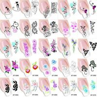 50pcs 3D Mix Flower DIY Water Transfer Nail Stickers Decals Nail Art Decoration