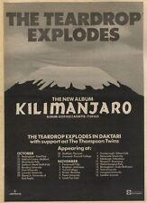 18/10/80PN09 ADVERT: THE TEARDROP EXPLODES ALBUM KILIMANJARO 15X11