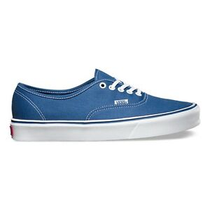 VANS Scarpe SHOES Authentic Lite Navy SKATE Classic NUOVE New UOMO Donna TELA