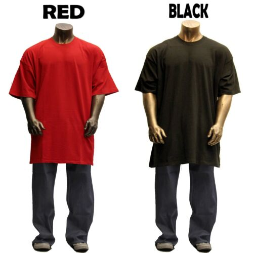 Big and Tall TEE Men Heavy Weight Plain S//S T-shirts Crew Neck Solid TALL 8OZ 2