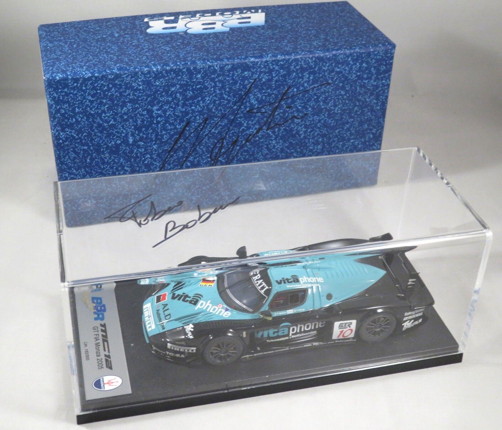 MASERATI MC12 GT1  10 Biagi MONZA FIA GT 2005 signed Babini + AGOSTINI BBR 1:43