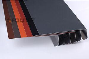 UNTER-RINNEN-TRAUFBLECH-Aluminium-1m-Rinneneinhang-Traufe