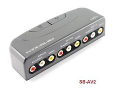 2-Way  RCA Composite Audio/Video Manual Push Button Switch. CablesOnline SB-AV2