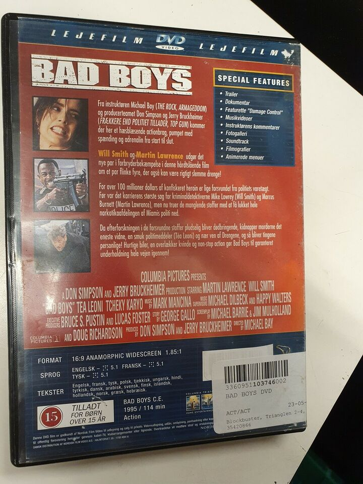 Bad Boys, DVD, action