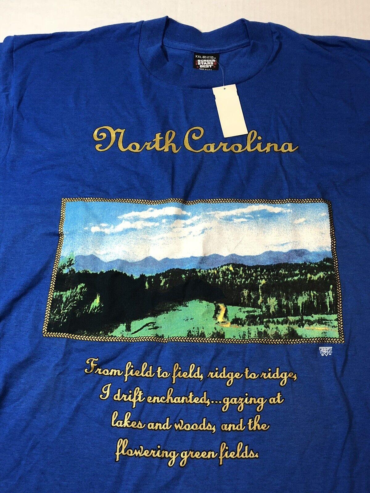 12d8a70b7 Vintage T-shirt 2xl Screen Stars Best North Rare Find Tags USA Carolina  With nydzvn3337-T-Shirts