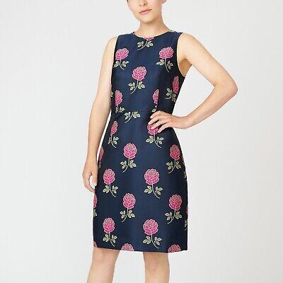 Details about  /NWT J Crew Sheath dress in floral jacquard Item AP076 Navy Sz 6