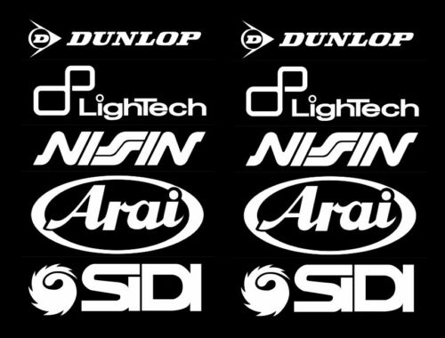 Arai Dunlop Sidi Motorsport patrocinadores pegatinas racing set para moto coche