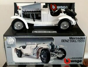 Vintage-1-18-Scale-Burago-Model-Mercedes-Benz-SSKL-1931-Desk-Tidy-Boxed-VGC