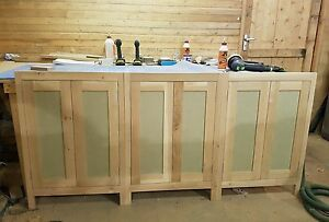 Details About Solid Oak Handmade Kitchen Cabinets Doors In Frame