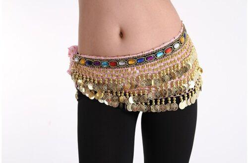 HOT Beautiful NEW Belly Dance Waist Chain Hip Scarf Costume  dancing belt#PS07