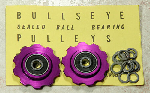 Bullseye Pulleys NOS *PURPLE* For Vintage Campy Shimano Suntour /& Others