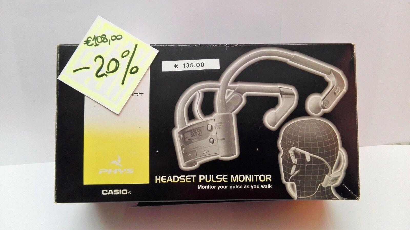 Casio Sport Monitor che controlla le pulsazioni mentre cammini  PULSIMETRO