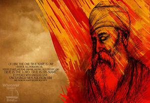 guru nanak dev ji wall art print picture poster sikh sikhism hd