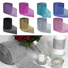 1 Yards Diamond Mesh Crystal Rhinestone Wedding Wrap Roll Sparkle Ribbon 4.6""