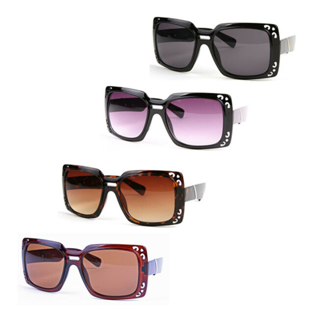 Wholesale 12 Pairs Women/'s Fashion Thick Square Oversized Sunglasses P1118-12