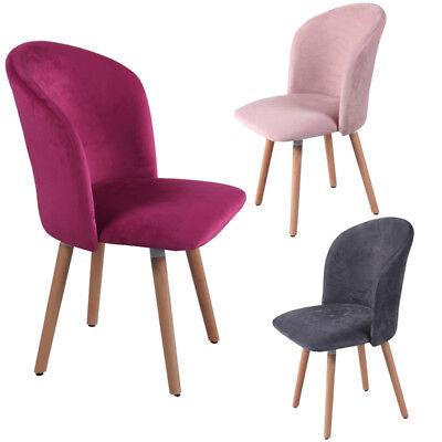 Retro Velvet Accent Dining Chair Kitchen Seat Lounge