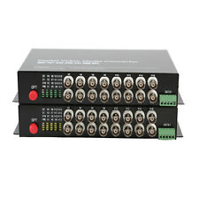 16CH Video Fiber optic Media Converter for CCTV  - RS485 data FC S/M 20Km 1Pair