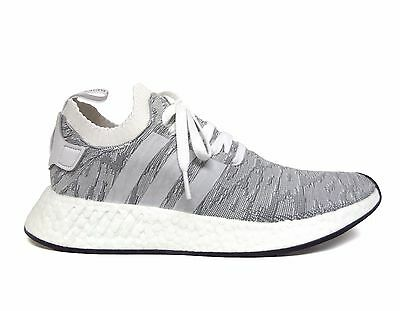 4ab3fbc39 Adidas Men s ORIGINALS NMD R2 PRIMEKNIT Running Shoes White Black BY9410 b