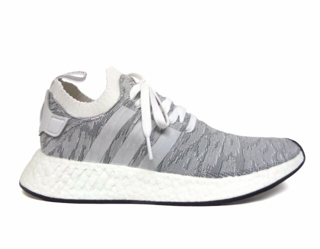72fb0ab3de86f Adidas Men s ORIGINALS NMD R2 PRIMEKNIT Running Shoes White Black BY9410 b