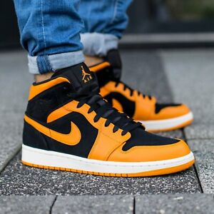 nike air jordan 1 mid orange peel