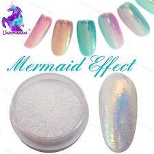 Efecto de Sirena arte uñas Pigmento en Polvo Polvo Iridiscente tendencia Brillo Espejo 5g