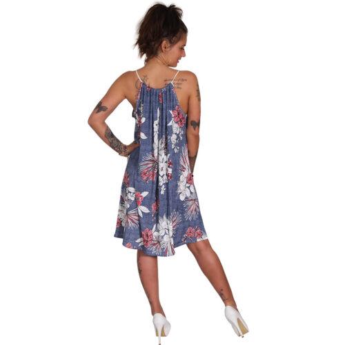 Sommer Bandeau Kleid Blumen Kordel Träger Strandkleid Tuchkleid Tuch Blätter 163