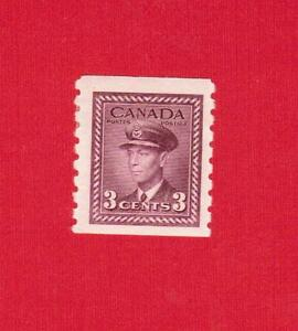 1943  #  266 * VFH  TIMBRE  CANADA  STAMP KING GEORGE VI COIL