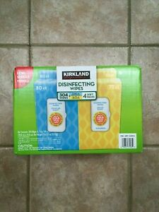 4 packets Disenfecting cleaning wipes (KIRKLAND Signature) tencel Unopened NEW