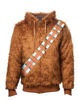Official Star Wars Chewbacca Furry Costume Reversible Hoodie Jumper (brand New)
