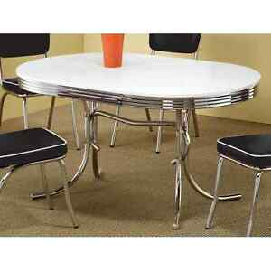 retro dining table vintage 50 s mid century modern style chrome