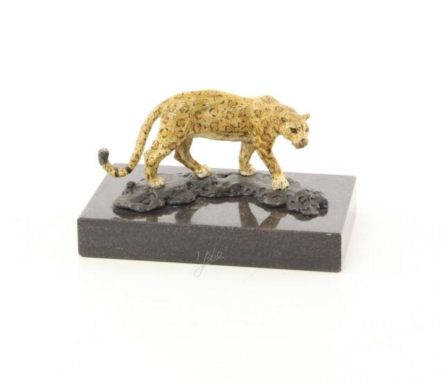 9973488-dss Bronze Sculpture Figure Jaguar 7x8x13cm
