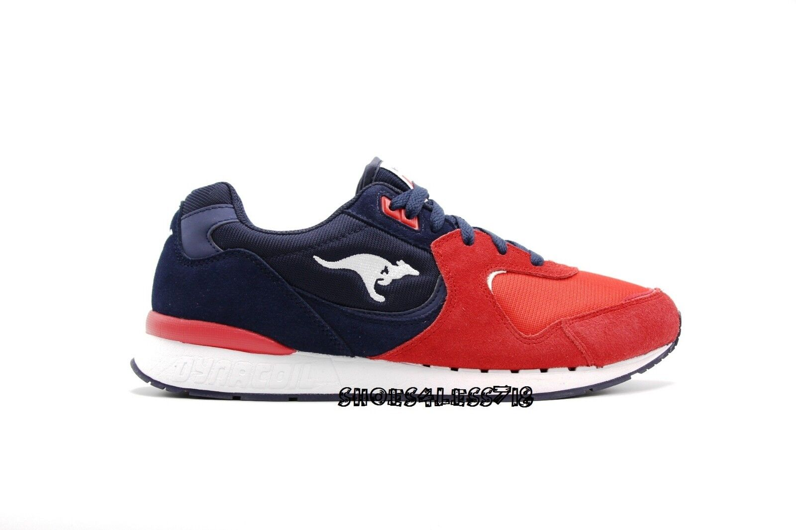 NEW MENS KANGAROOS ROOS 2 rot NAVY Weiß SUEDE LACE UP RUNNING Turnschuhe