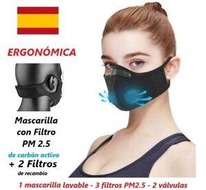 Mascarilla-ergonomica-con-Filtro-PM2-5-de-Carbon-Activo-2-Filtros-de-recambio