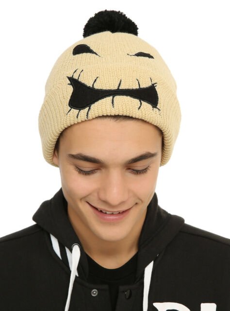 disney the nightmare before christmas oogie boogie face knit pom beanie hat