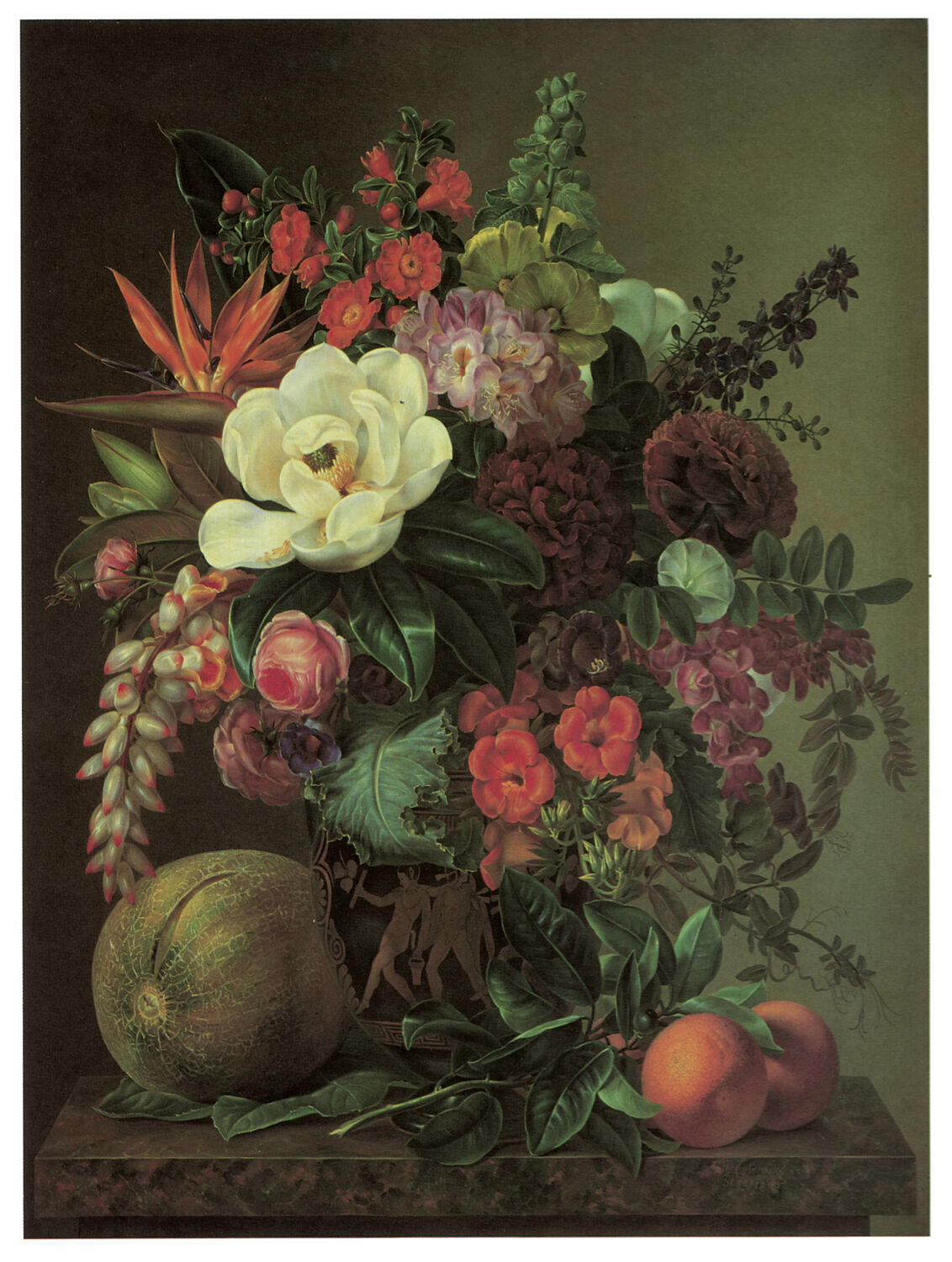 1224 Fruits and Flowers Art Decoration POSTER.Graphics to decorate home office.