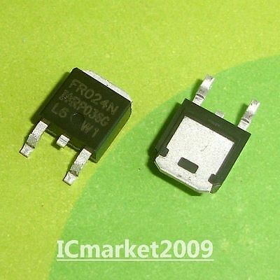 10 PCS IRFR024N TO-252 IRFR024 FR024N SMD Power MOSFET(Vdss=55V Id=17A)