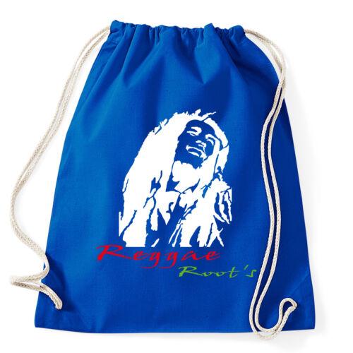 Art T-shirt, Zaino Bob Marley Reggae, Blu, Sacca Gym