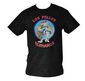 807a0c29 T SHIRT LOS POLLOS HERMANOS BREAKING BAD MENS BLACK ALL SIZES S TO ...