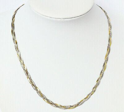 Halskette Mit Armband 925 Sterling Silber Teilvergoldet Bicolor Aru Armbrust-ruf