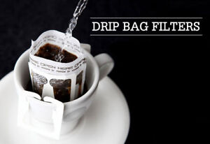 50pcs Portable Coffee Filter Bags Dripper Drip Bag Filters Hanging Ear White