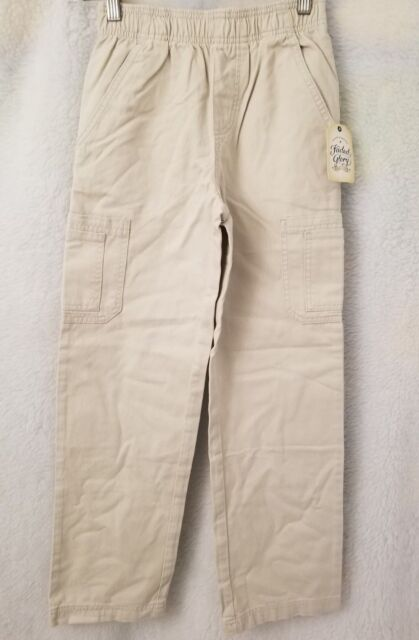 e879ade39 Faded Glory NWT Boys Sidewalk Color Elastic Waist Pull On Pants Size M 8