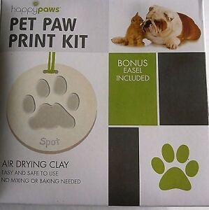 Details about Pet Paw Print Kit w/ Bonus Easel