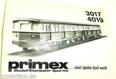 3017 4019 Primex Märklin Istruzioni Å * Design Moderno