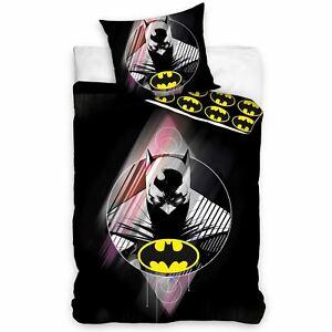 Batman-Set-Housse-de-Couette-Simple-Garcons-Filles-100-Coton-Dc-Comics-Fans